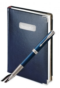 Подарочный набор Ручка Роллер Parker Sonnet Laque Blue CT Imperium