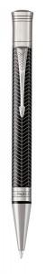 Шариковая ручка Parker Duofold Prestige Centennial Black Chevron CT