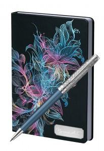 Подарочный набор Шариковая Ручка Parker Sonnet Premium Metal Blue CT Vibrance