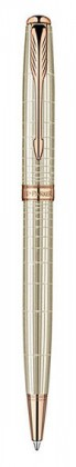 Шариковая ручка Parker Sonnet Ciselle Decal Silver GT